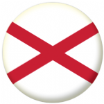 St Patrick's Cross Flag 25mm Button Badge